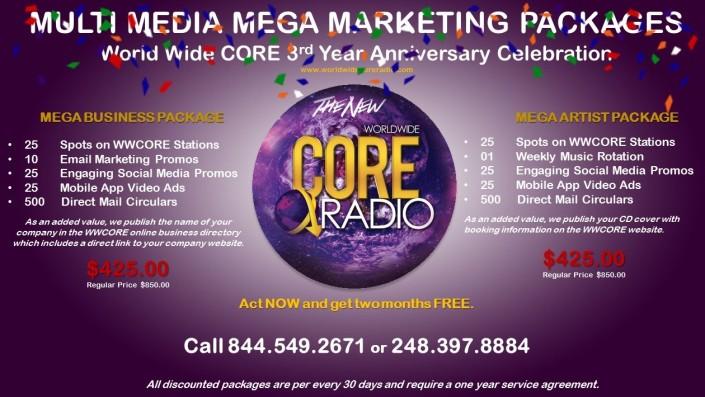 Mega Marketing Packages 3rd Anniversary Celebration